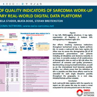 Definition and Assessment of Quality Indicators of Sarcoma Work-up using a transdisciplinary real-world digital data platform